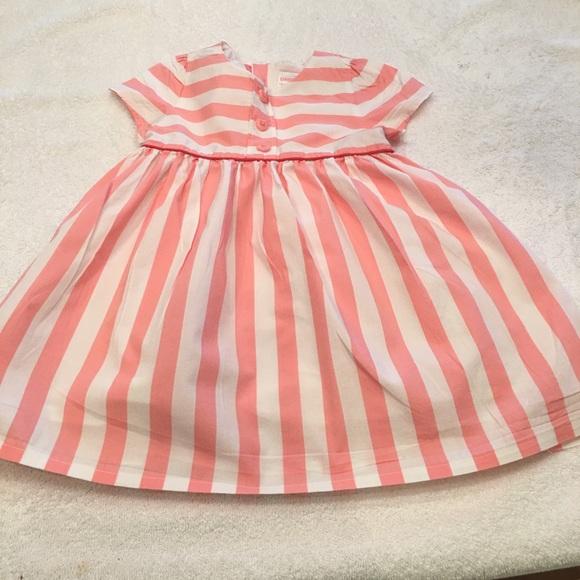 Gymboree babydoll dress size 18-24 pink white